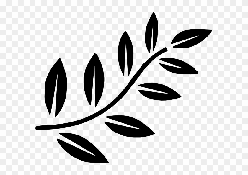 Tree Branch Clip Art At Clipartimage Olive Branch Clipart Black
