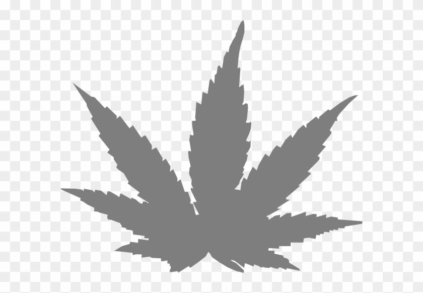 How To Set Use Grey Pot Leaf Svg Vector - Pot Leaf Silhouette Png #1195965