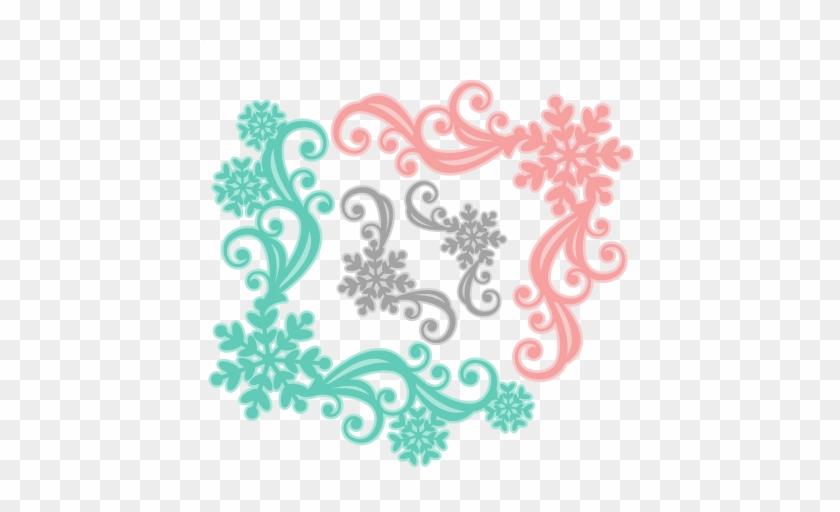 Snowflake Flourish Set Svg Scrapbook Cut File Cute - Free Svg Cut Files For Cricut #1196262