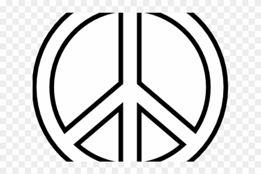 Peace Symbol Clipart Line Art Easy Drawing Peace Sign Free