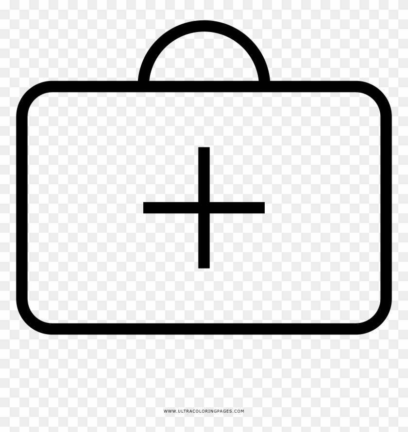 First Aid Kit Coloring Page - Coloring Book - Free Transparent PNG Clipart  Images Download