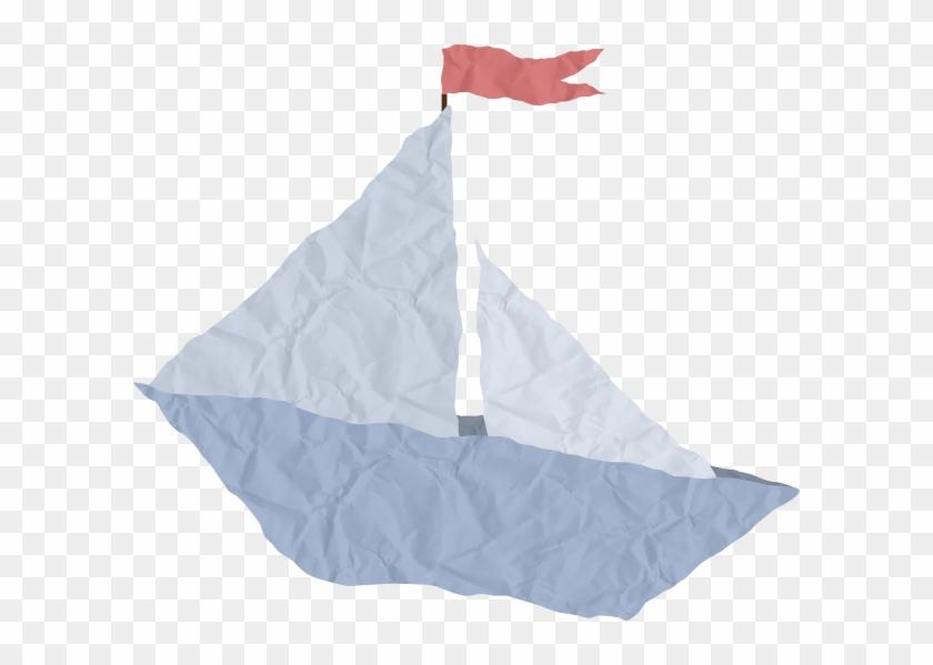 Crumpled Paper Boat Clip Art At Clker Com Vector Clip - Paper Boat Clip Art #1198007