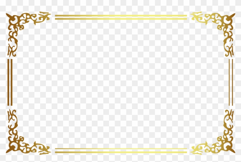 Gold Frame Border Square - Golden Frame Png #1198101