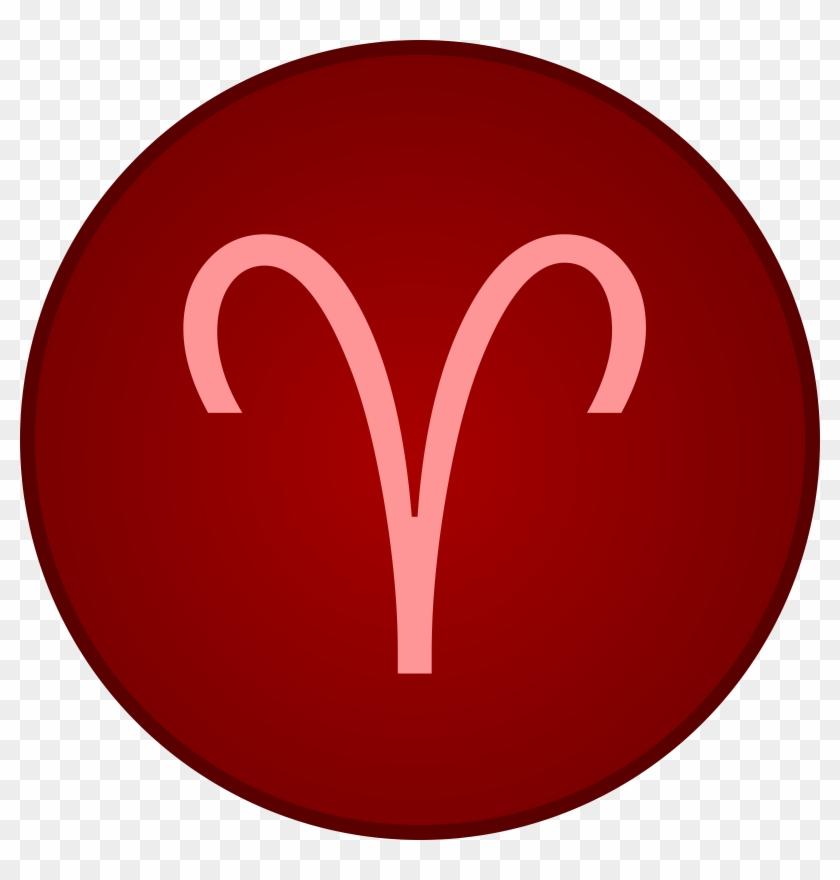 Aries Ram Symbol Clipart Aries Symbol Red Free Transparent Png