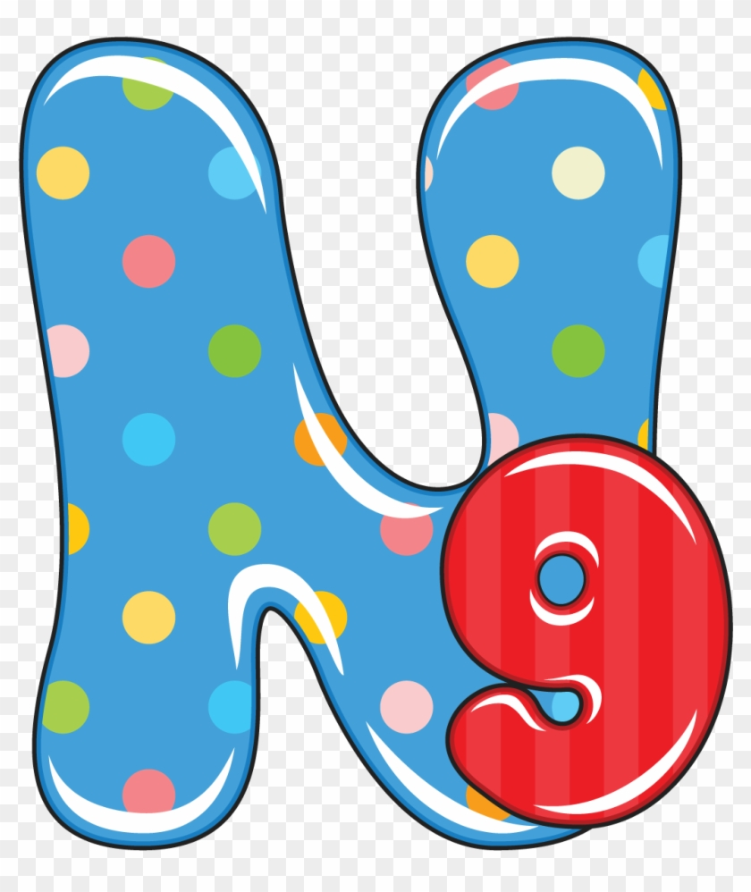 N Is For Nine, Baby Alphabet - Single Alphabet Letters Designs W