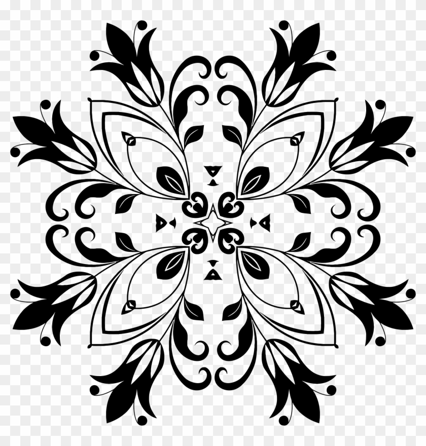 floral design 13 motif bunga hitam free transparent png clipart images download floral design 13 motif bunga hitam