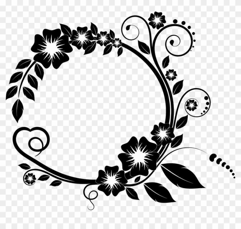 Line Art Flower Design 17 Buy Clip Art Bingkai Bunga Vektor Png