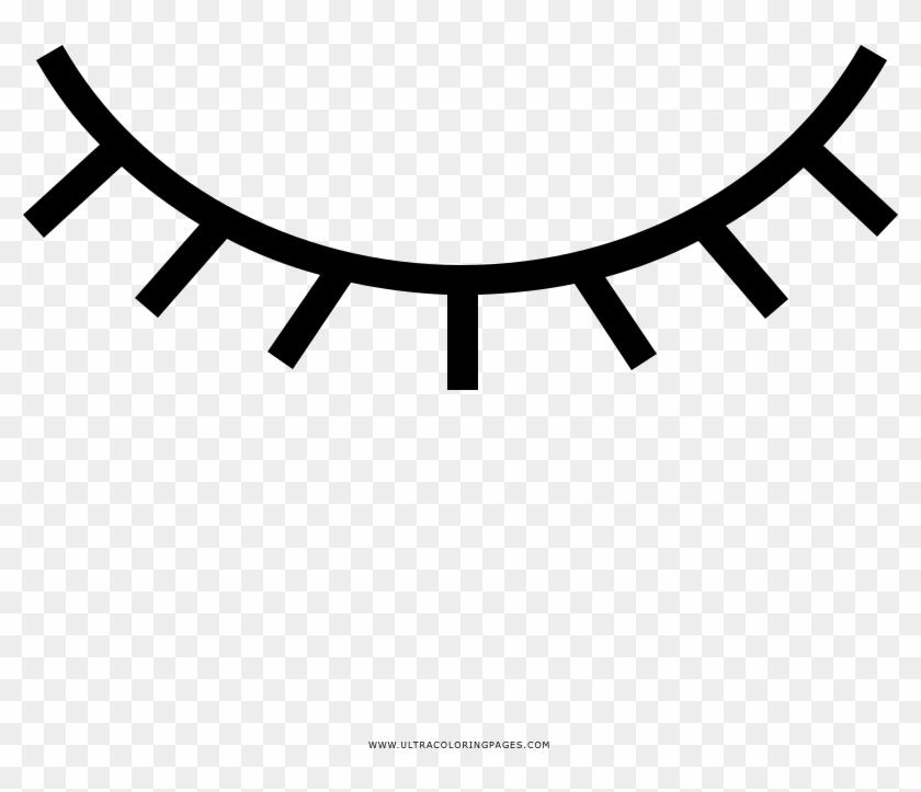 Dibujo De Ojo Para Colorear - Closed Eye Icon Png - Free Transparent ...