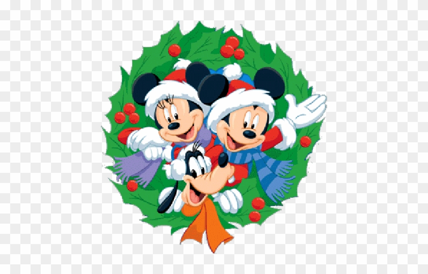 Disney Christmas Clip Art Border Download - Mickey And Minnie Mouse Christmas #1201799