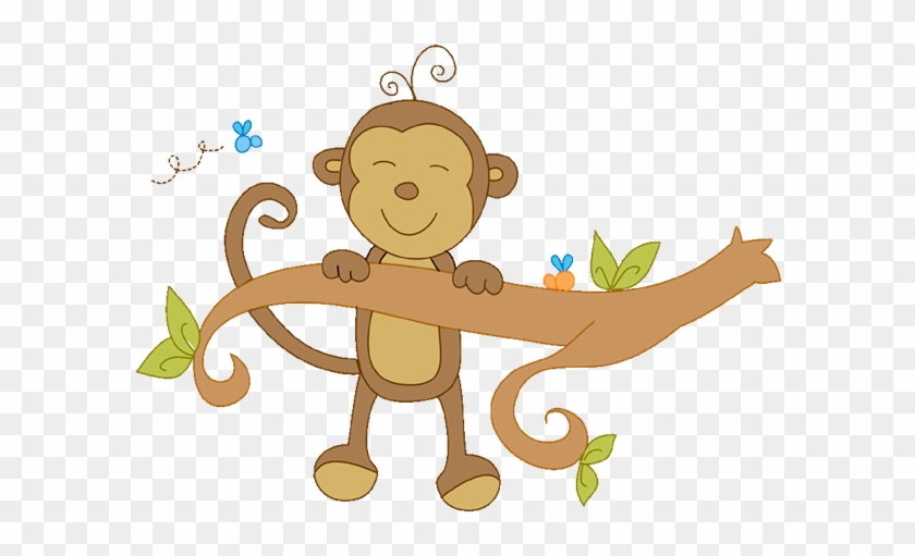 Image Result For Blue Safari Baby - Cute Monkey Clip Art #1202290