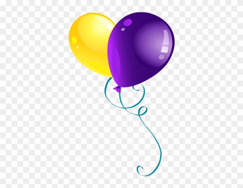 Purple Birthday Balloons Clipart 5 By Candice - Purple And Yellow Balloons #1202333