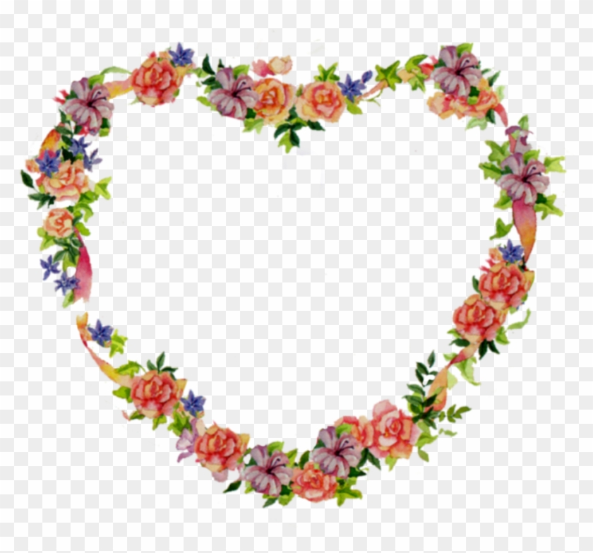 Lovely Pictures Of Heart Flower Pictures Clip Art Heart - Flower Heart Frame Png #1202762