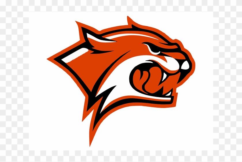 Orange Wildcat Logo Mascot Template Vector - Wild Cats Clip Art #1203048