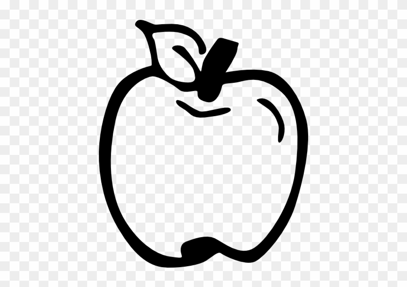 Apple Drawing Computer Icons Clip Art - Hand Drawn Apple Png