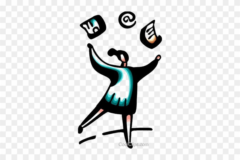 Businesswoman Juggling Workload Royalty Free Vector - Businesswoman Juggling Workload Royalty Free Vector #1204744