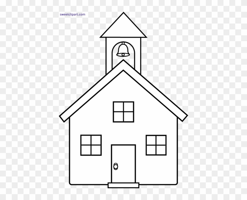 School House Silhouette At Getdrawings Com Free For - Drawing Of A Church #1204799