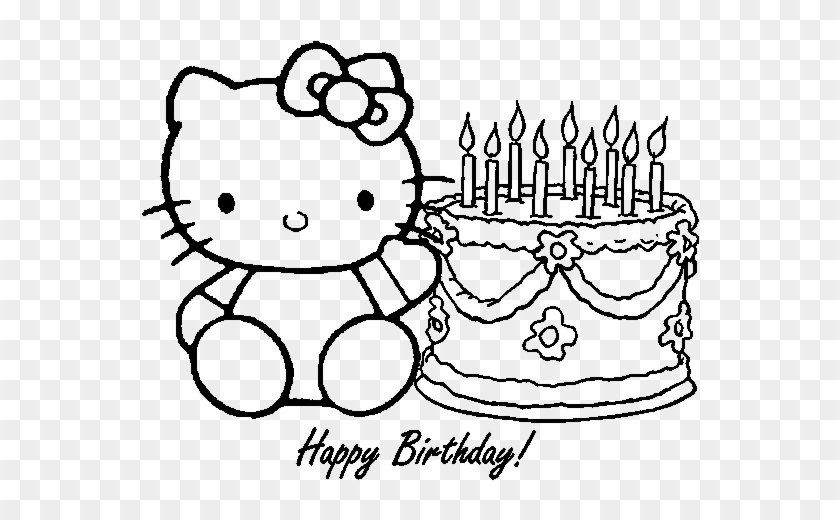 Free Hello Kitty Happy Birthday Coloring Images Hello Kitty Coloring Pages Free Transparent Png Clipart Images Download