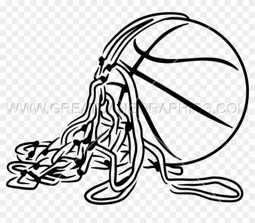 Basketball With Net - Basketball Cut The Net #1205660