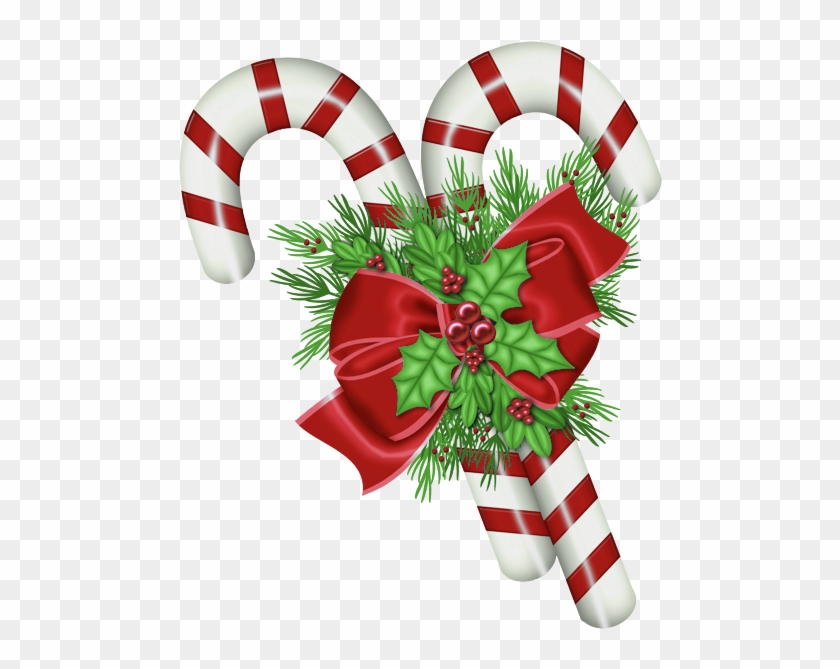 Add Santa Claus And His Elf Helper To Your Christmas - Christmas Candy Cane Png #1205894