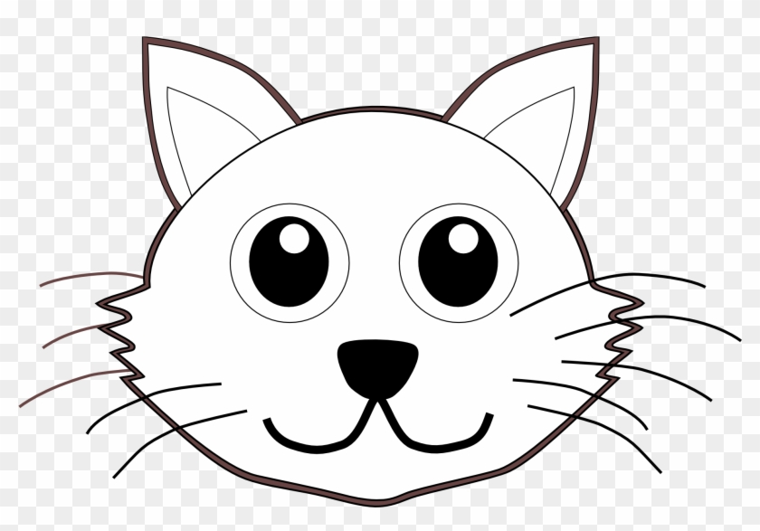 cat face clip art black and white cat face coloring page