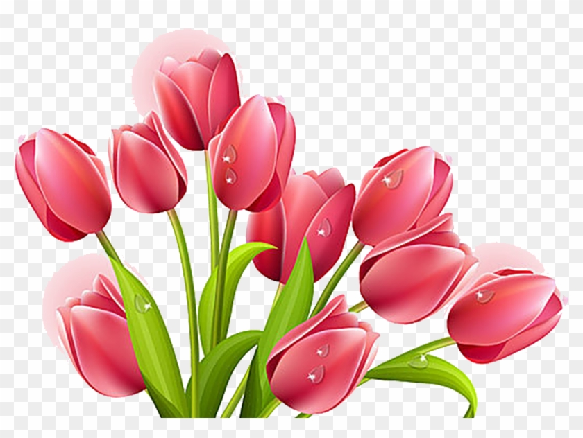 Tulips Flowers Clip Art