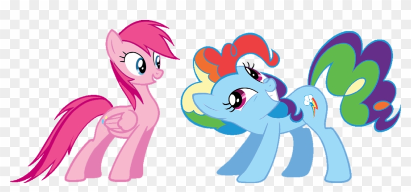 Pinkie Pie And Rainbow Dash Human Kiss - Rainbow Pie And Pinkie Dash - Free  Transparent PNG Clipart Images Download