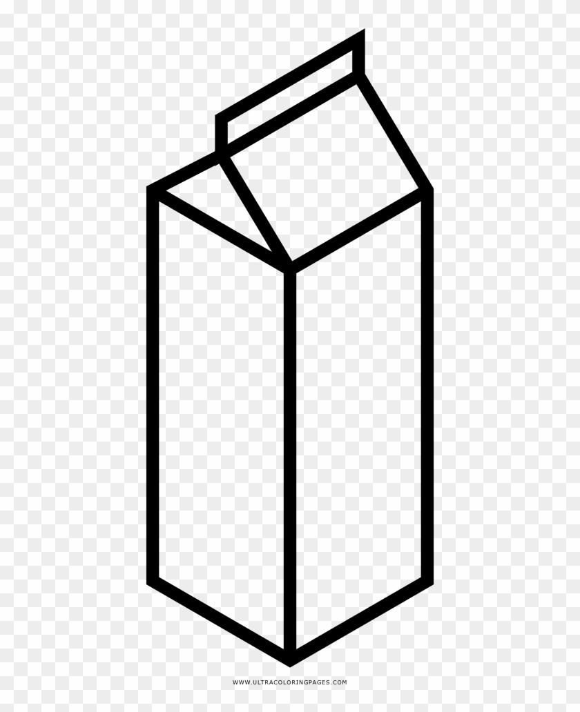 Milk Carton Coloring Page Desenho De Caixa De Leite Para Colorir