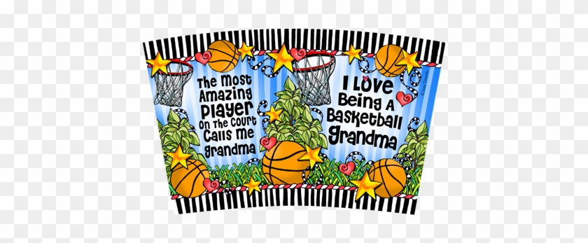 Basketball Grandma Stainless Steel Tumbler - Book Page Numbers #1207838