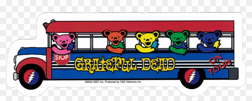 Grateful Dead Dancing Bears On The Bus - Grateful Dead - Bears On Tour Bus - Sticker #1208117