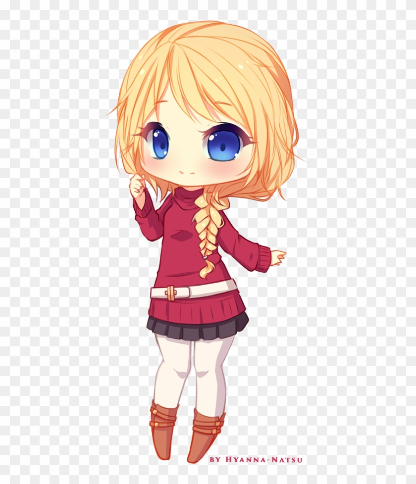 Cellshading chibi anime manga cute chibi mini chibi chibi girl with blonde