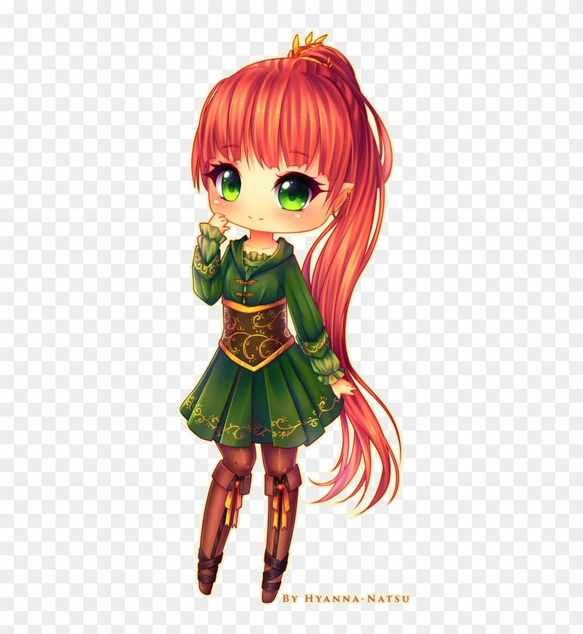 Chibi Softshading Style To Ladymidnightsolace Woaahh - Chibi Anime Elf Girl #1209717