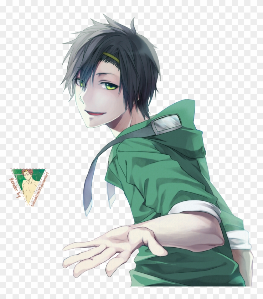 Render 24 By Lulusaki-seki59 - Hot Anime Guy With Black Hair And Green Eyes #1209931