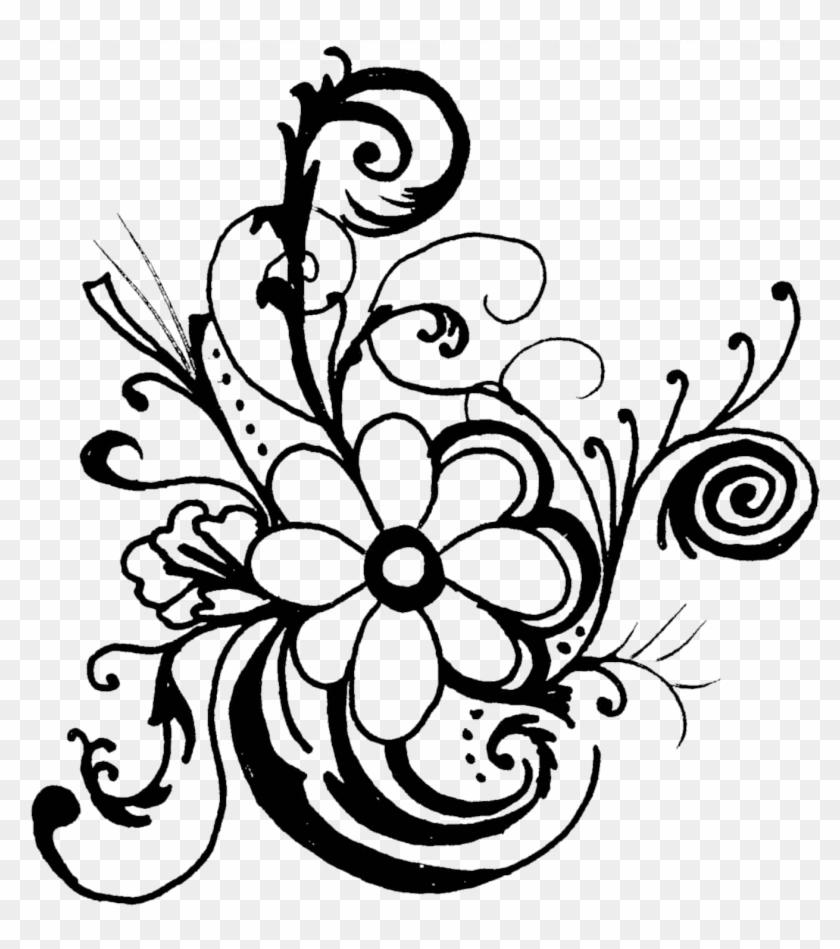 Black And White Flower Border Clipart Black And White Border Line