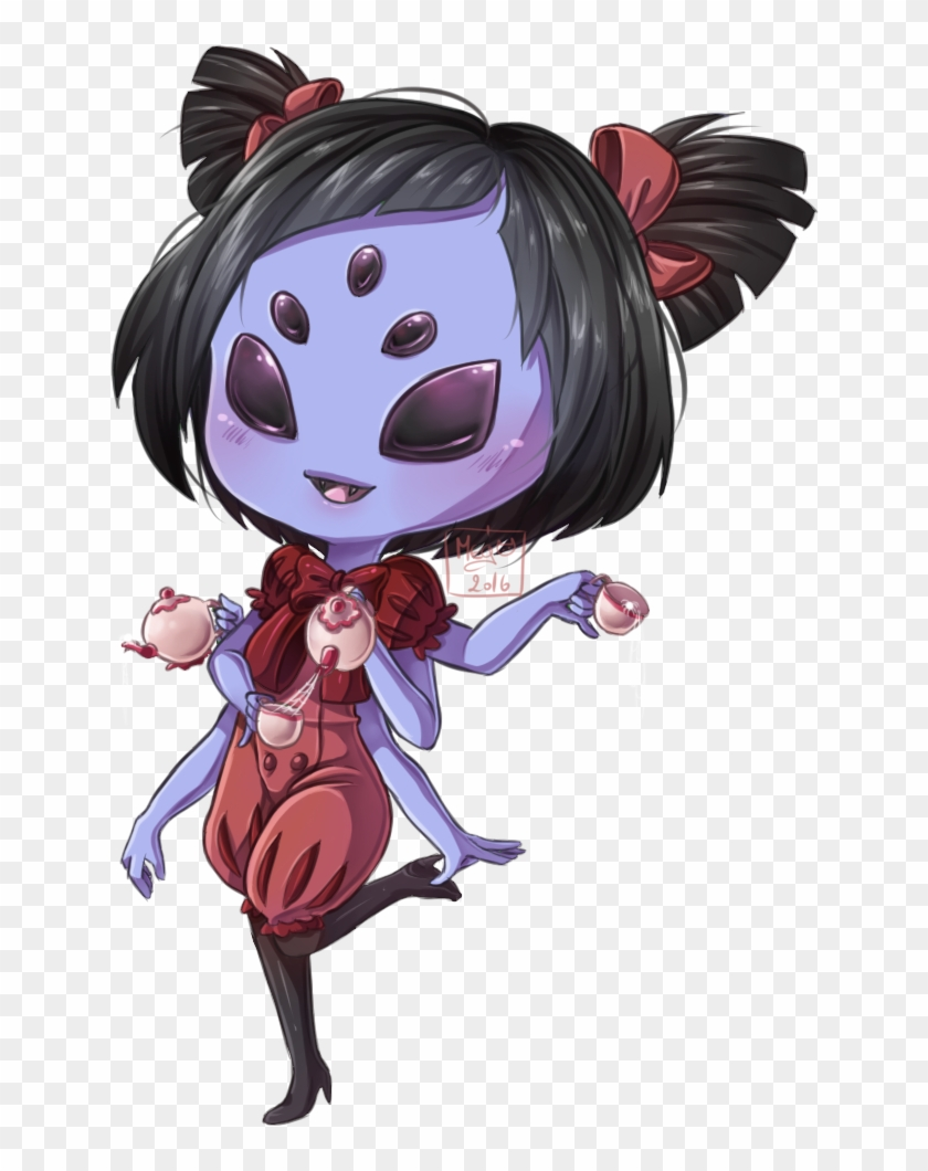 Chibi Muffet By Meg Marmite Undertale Muffet Chibi Free Transparent Png Clipart Images Download