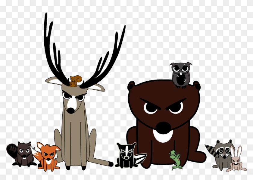 Angry Woodland Animals Free Transparent Png Clipart Images Download