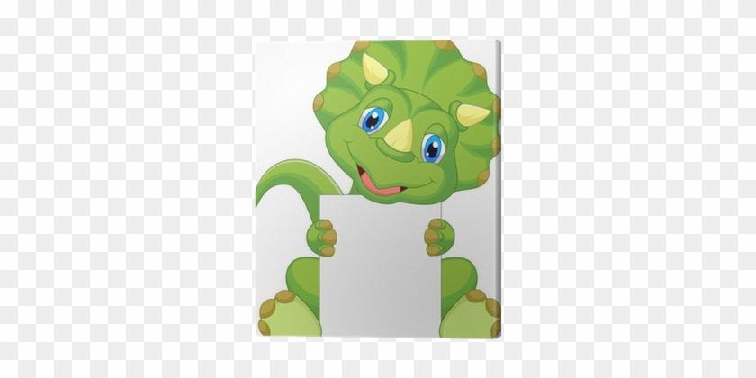 Image of: Cartoon Vector Cute Dinosaur Cartoon Holding Blank Sign Canvas Print Cute Cartoon Pictures Of Dinosaurs 1211688 Clipartmax Cute Dinosaur Cartoon Holding Blank Sign Canvas Print Cute Cartoon