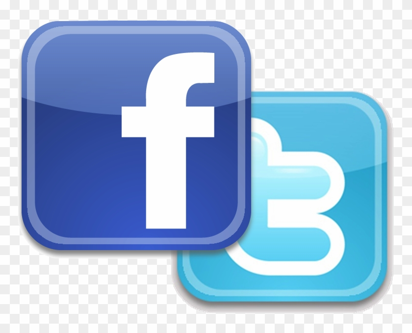 Share Events With Friends - Twitter And Facebook Icons #1212869