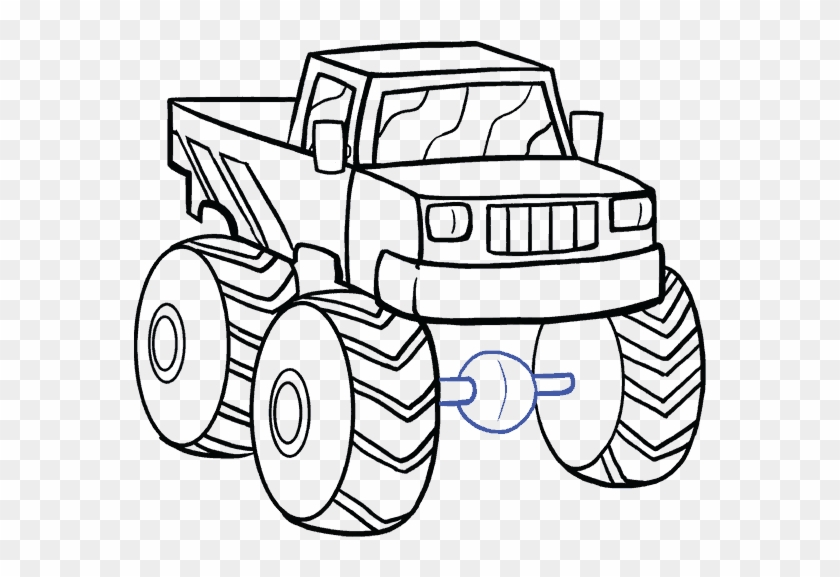 fire truck drawing easy at getdrawings drawing a monster truck