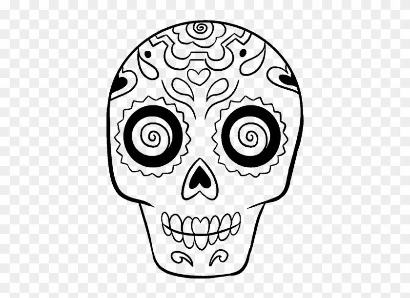 28 Collection Of Mayan Drawing Easy - Drawings Of Sugar Skulls #1212937