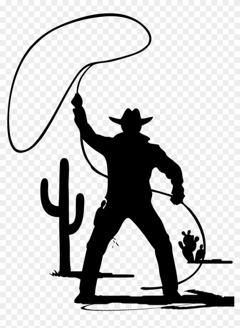 Graphics - Cowboy With Lasso Drawing #1215600