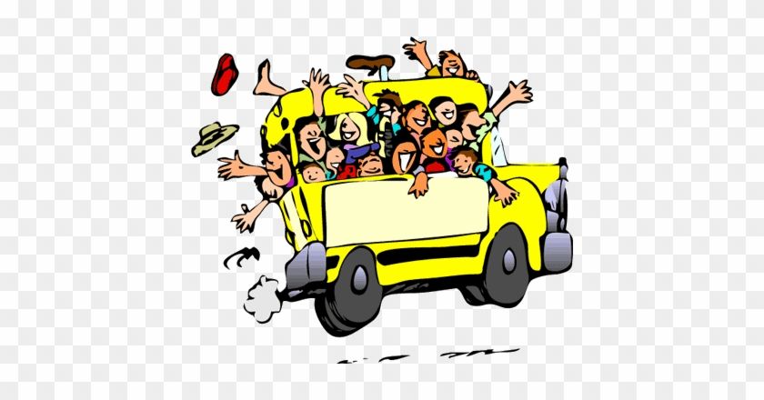 Coach Full Of People - Party Bus Clip Art #1216566