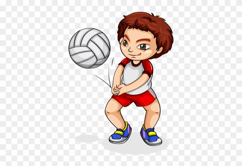 Child Euclidean Vector Plan Illustration - Play Volleyball Cartoon #1216599