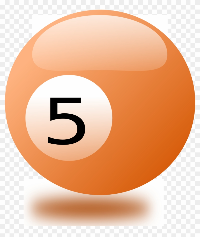 Cue Ball With No Background Clip Art - Billiards Balls 5 Png #1216886
