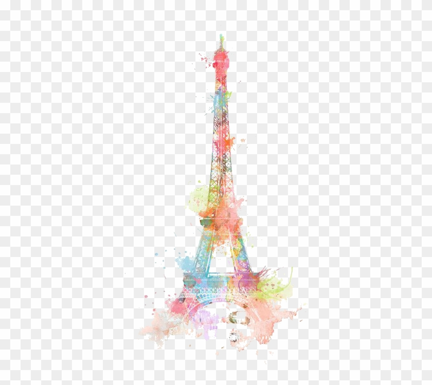 Eiffel Tower Drawing Watercolor Painting - Eiffel Tower Cute Drawing #1217082