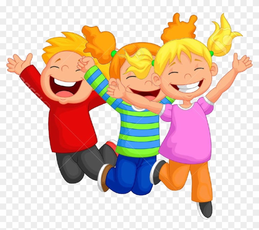 Kids Jumping Clipart Png For Kids - Happy Children Toys Clipart #1218701