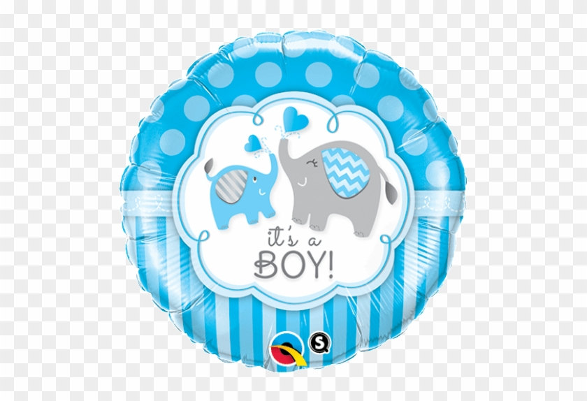 "18"" It's A Boy Blue Foil Balloon - Baby Shower Decorations Boy Elephant Balloons #1218849"
