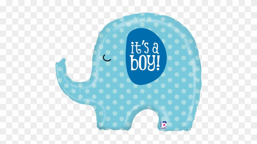 "It's A Boy New Baby Balloon Balloons Decorations 32"" - Pink Elephant Baby Shower #1218850"