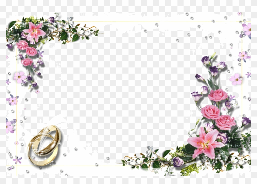free flower page borders and frames wedding flower page border
