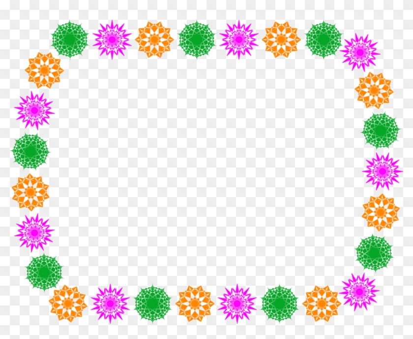 Illustration Of A Blank Frame Border Of Colorful Shapes - Mothers Day Border Template #1218959