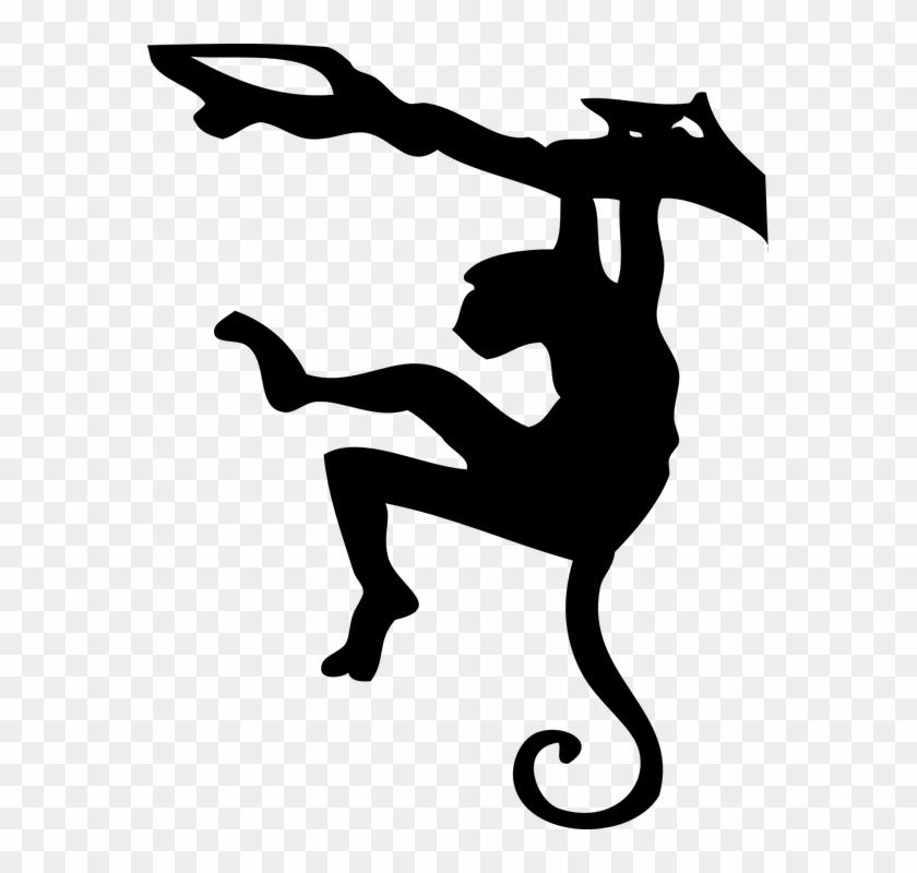 Hanging Monkey 1, Buy Clip Art - Monkey Silhouette #1219184